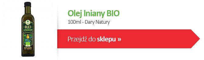 Olej lniany bio 100ml Dary Natury